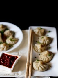 veg momos recipe, how to make momos recipe | vegetable momos