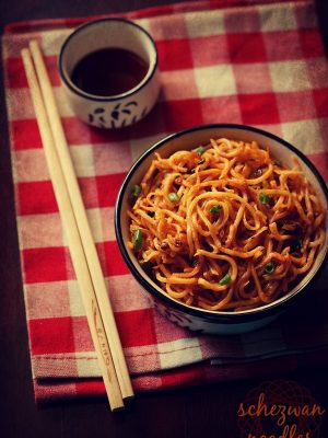 schezwan noodles recipe, how to make schezwan noodles