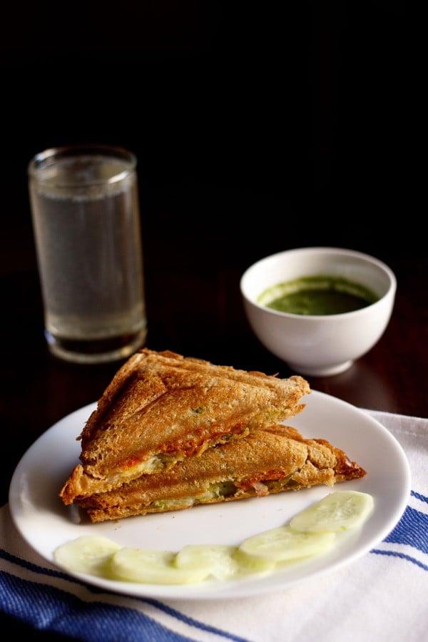 veg cheese sandwich, veg cheese sandwich recipe