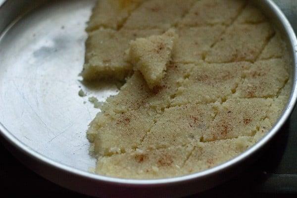 slice coconut barfi