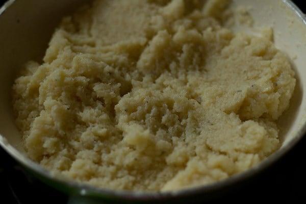 cook the coconut burfi mixture