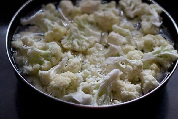 gobi florets for gobi manchurian dry recipe