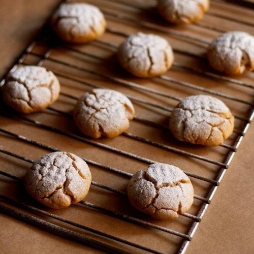 eggless orange crinkle cookies recipe