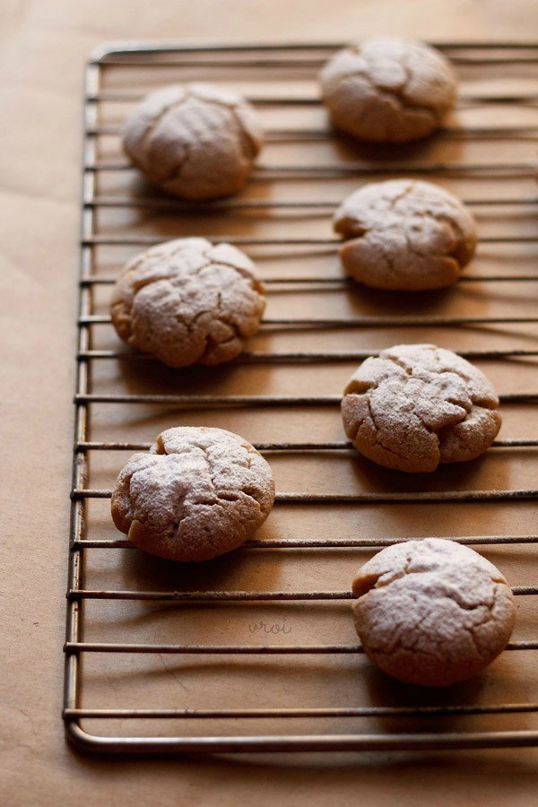 eggless orange crinckle cookies recipe, eggless orange cookies recipe, orange cookies recipe