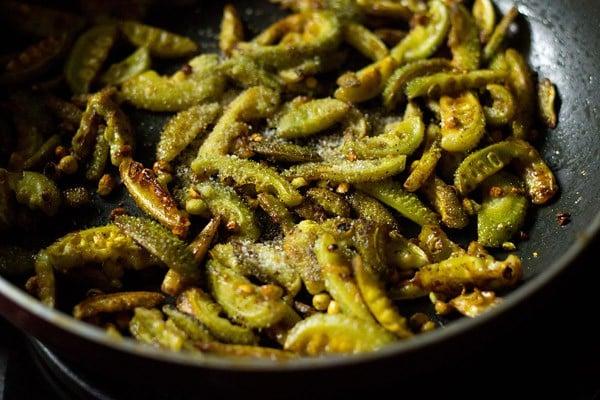 stir frying kantola