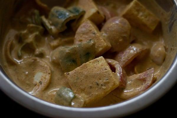 marinated paneer for paneer tikka recipe