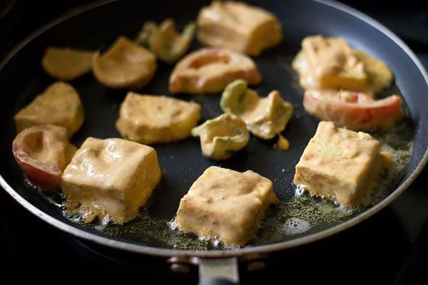 frying paneer for tikka recipe