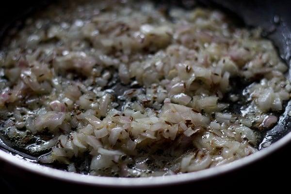 add onions to make bandh gobhi matar recipe