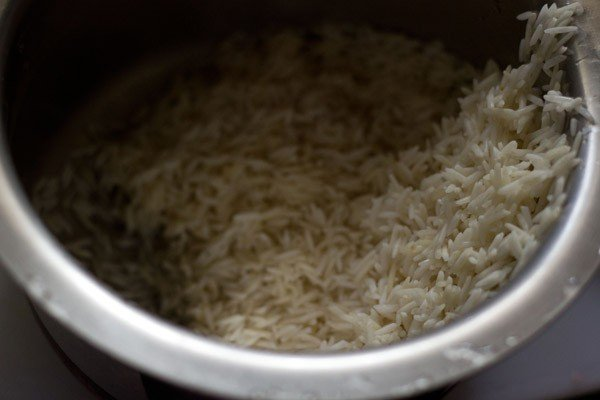 soaked rice for vangi bhaat recipe