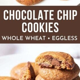 Collage of chocolate cookies