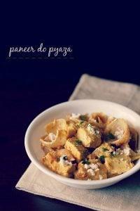 paneer do pyaza recipe, how to make paneer do pyaza recipe