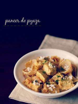paneer do pyaza recipe, how to make paneer do pyaza