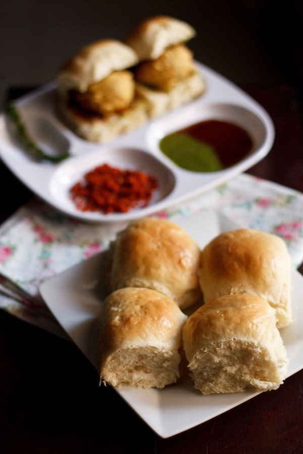 bombay laadi pav bread recipe, bombay pav recipe