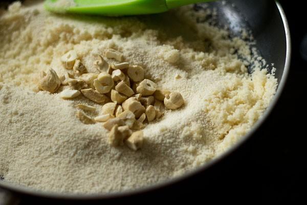 add rava for rava ladoo recipe
