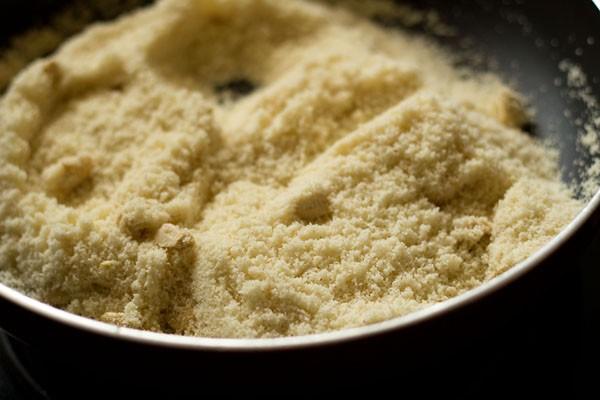 roast rava for making rava ladoo recipe