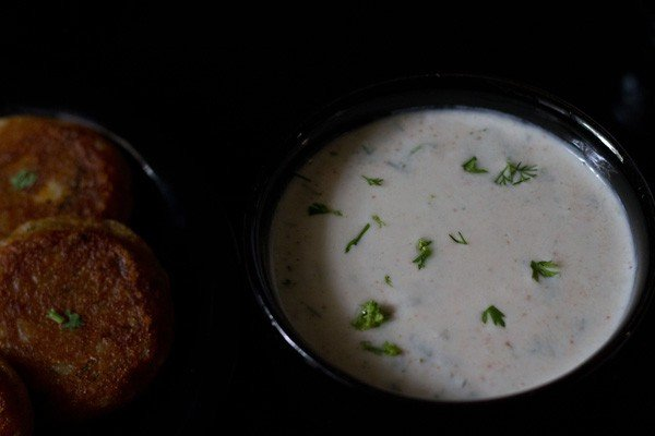 raita for aloo tikki frankie recipe