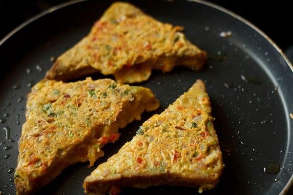 making besan toast recipe