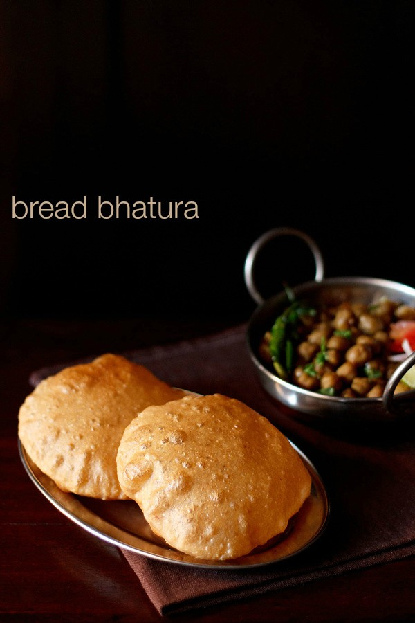 bread bhatura recipe, how to make quick bhatura with bread