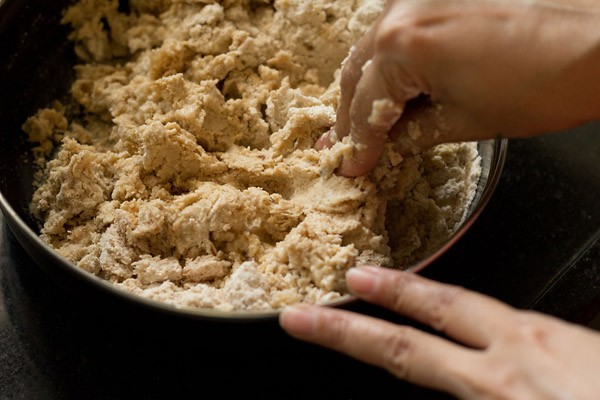 kneading dough for bread bhatura recipe