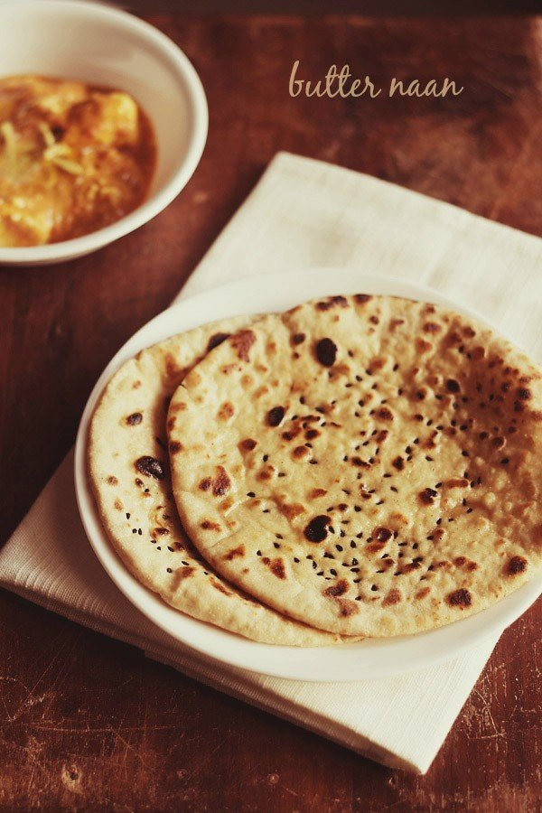 butter naan recipe, how to make whole wheat butter naan recipe