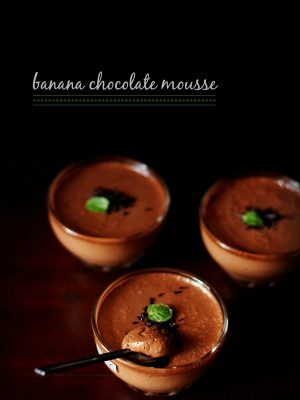 eggless banana chocolate mousse