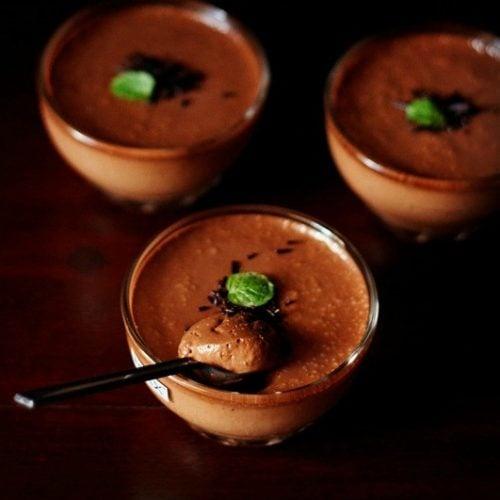 eggless banana chocolate mousse recipe