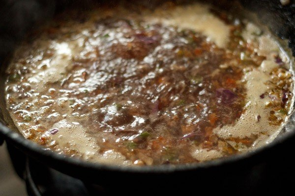 thicken the veg manchow soup recipe
