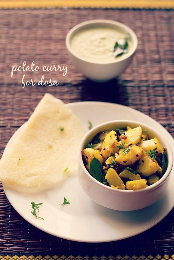 potato curry for masala-dosa