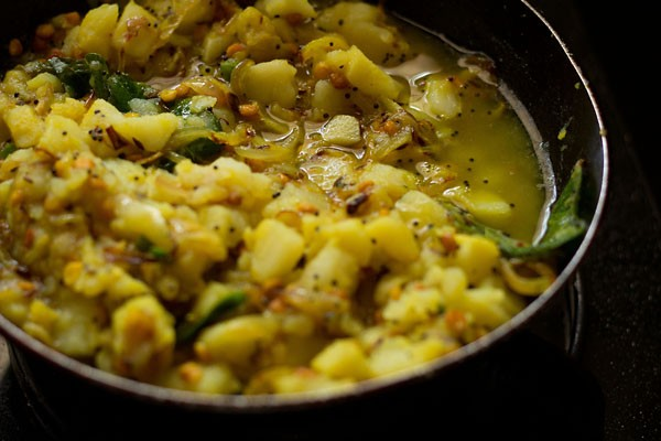 add water to potato masala recipe