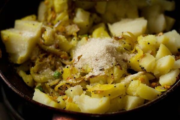 add potatoes to make potato curry recipe