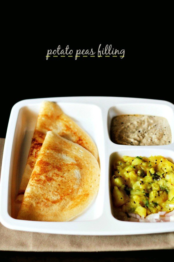 potato peas stuffing for masala dosa