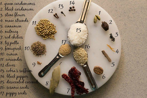 spices for veg kolhapuri recipe