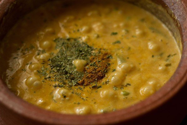 spices for making veg handi recipe