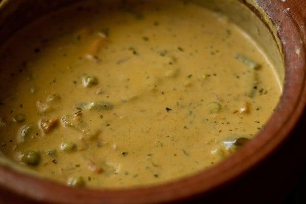 cream for vegetable handi recipe