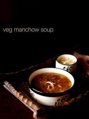 manchow soup, veg manchow soup