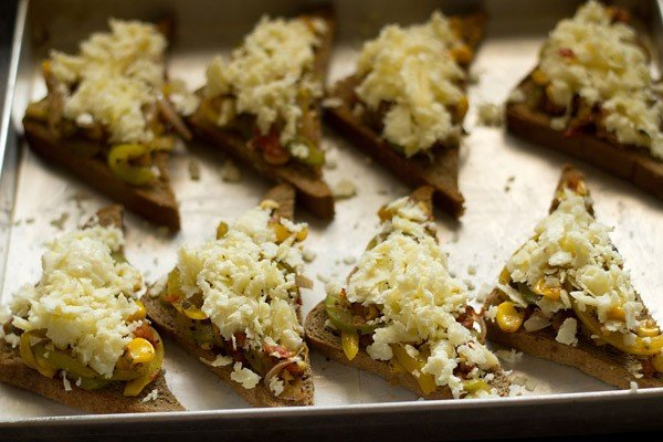 baking vegetable bread pizza recipe