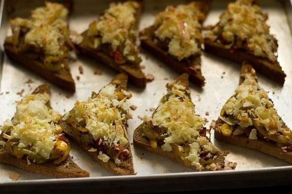 vegetable bread pizza recipe