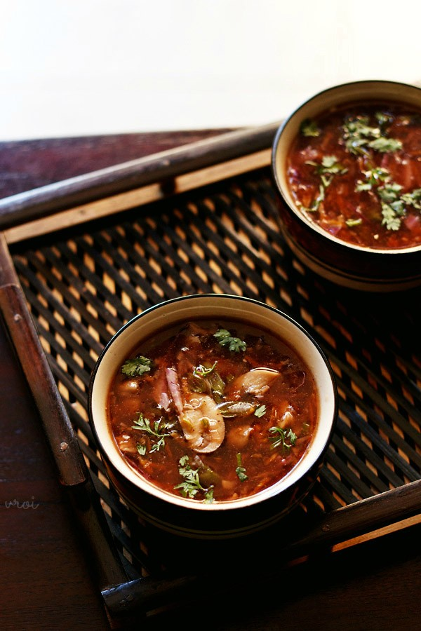 vegetable hot and sour recipe, veg hot and sour recipe