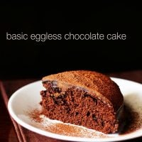 eggless chocolate cake recipe, how to make eggless chocolate cake