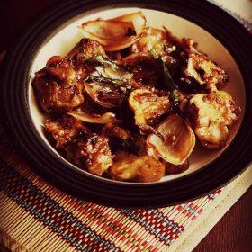dry chilli mushroom