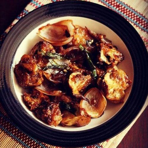 dry chilli mushroom recipe