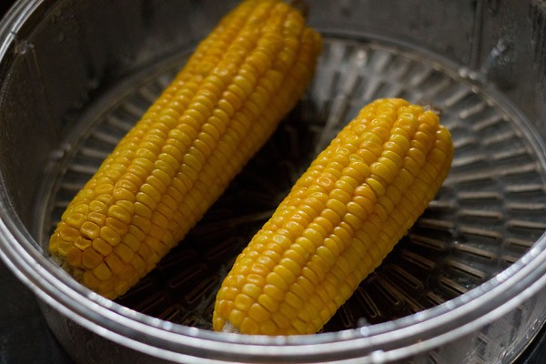 boiled corn for making soup