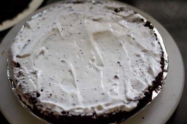 cream on eggless black forest cake recipe