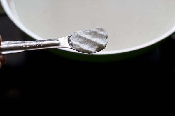 add sugar - making bread pudding