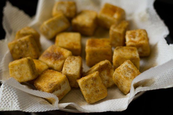 fried paneer for paneer manchurian recipe