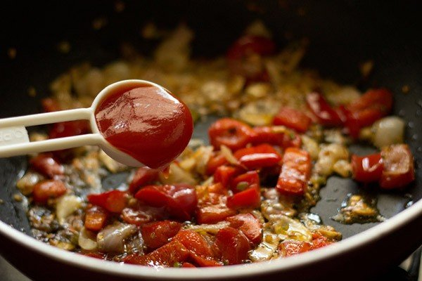 tomato ketchup for dry paneer manchurian recipe