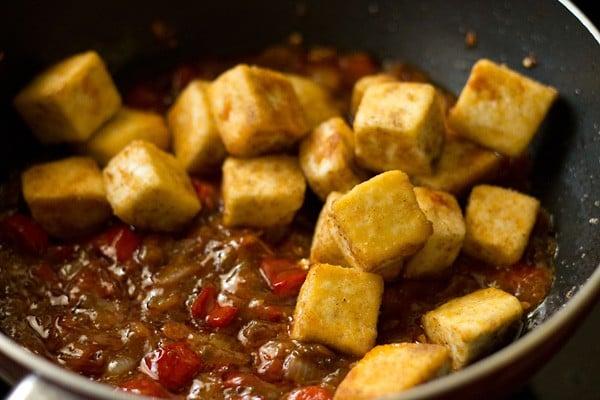 fried paneer for dry paneer manchurian recipe