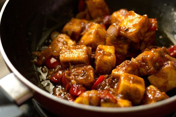stir paneer manchurian dry recipe