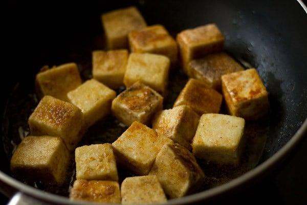 pan frying paneer for manchurian recipe
