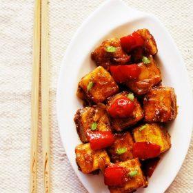 dry paneer manchurian recipe, paneer manchurian recipe